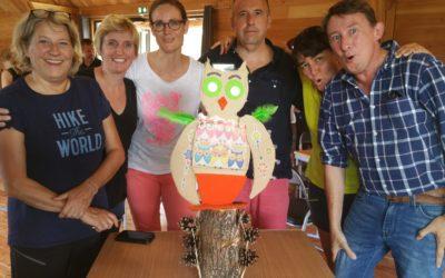 La Banque Populaire Auvergne-Rhône-Alpes utilise avec succès le Challenge du Développement Durable de Brochet-Teambuilding pour son séminaire annuel sur le site Sud Ardèche Huttopia !