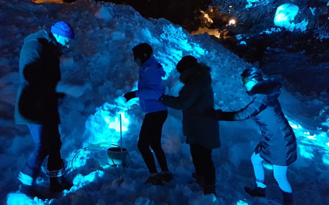 Le groupe suisse PIAGET Montres anime son séminaire à Chamonix à l'aide de l'expérience teambuilding outdoor immersive inédite : The blind Snow Team Walking !