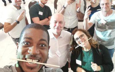 La groupe informatique AKANEA entraîne ses équipes au bien-être au travail lors de sa Convention 2019 grâce à l'innovation VIV'UP de Brochet-Teambuilding !